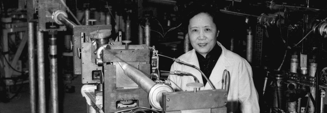 Black-and-white photo of Wu Chien-Shiung