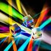 Default thumbnail: three prisms splitting light on a surface